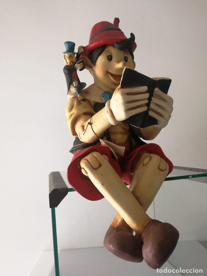 Vintage: PINOCHO leyendo figura DISNEY de gran tamaño 1998 - Foto 6 - 196172406
