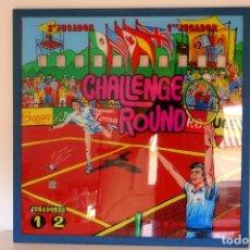 Vintage: CRISTAL METACRILATO FRONTAL PINBALL VINTAGE CHALLENGE ROUND HISPAMATIC AÑOS 70 DECORACIÓN MURAL. Lote 196352685