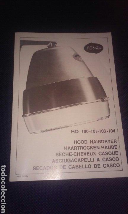 Vintage: secador de cabello de casco original vintage -años 60 aprox.- lady sunbeam hd 101 - Foto 16 - 197127676