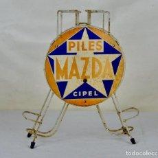 Vintage: ANTIGUO EXPOSITOR DE PILAS MAZDA CIPEL FRANCIA. Lote 61090679