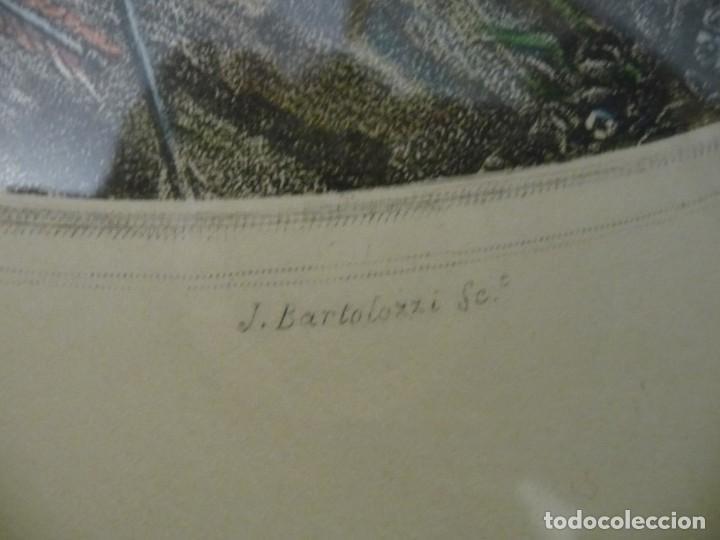 Vintage: GRABADOS ENMARCADOS HUELLA 30X35,LAMINA 38X44,ENMARCADO 58X52, KAUFFMAN/BARTOLOZZI. - Foto 21 - 198141143