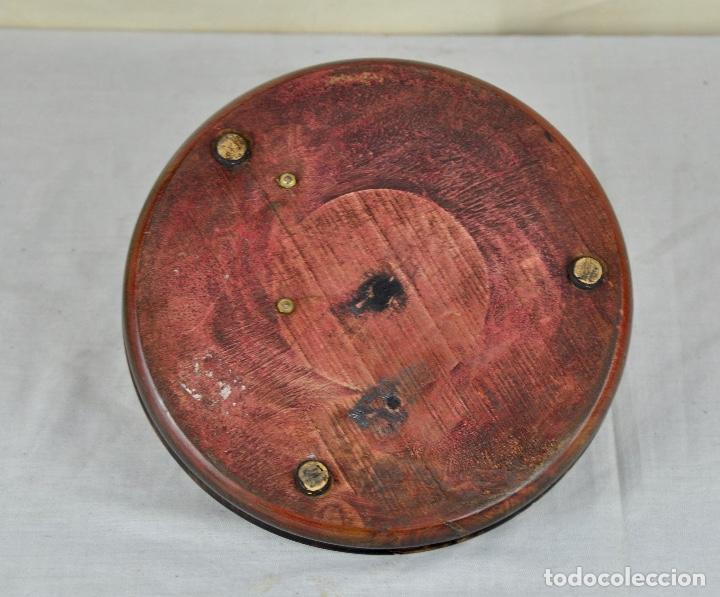 Vintage: Cenicero pitillera en bronce y madera - Foto 6 - 53748075