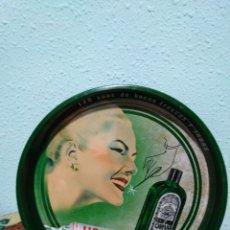Vintage: PLATO METALICO LICOR DEL POLO ( 140 AÑOS DE BOCAS FRESCAS Y SANAS ). Lote 199503882