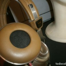 Vintage: VINTAGE CASCOS AURICULARES STEREO HEADPHONE FANTAIL AH-308 MADE IN TAIWAN - FUNCIONANDO. Lote 199524440