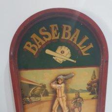 Vintage: CARTEL DE MADERA BASEBALL TIURNAMENT. Lote 199646047