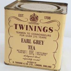 Vintage: ANTIGUA LATA DE TE TWININGS EARL GREY. 227 G. Lote 199730883