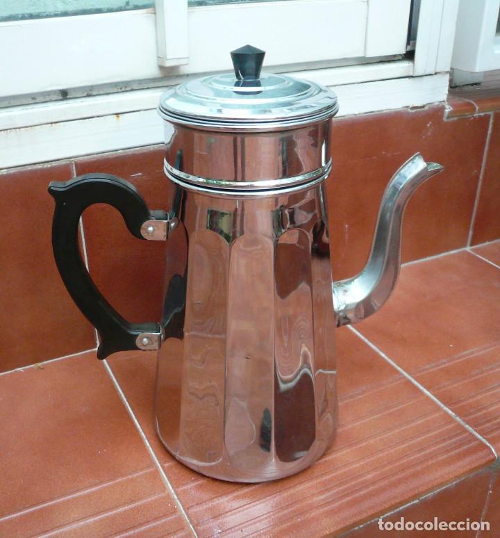 CAFETERA COBRE CROMADO. MARCA MENESA. FRANCIA (Vintage - Varios)