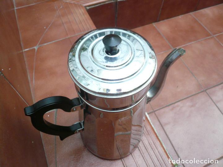 Vintage: CAFETERA COBRE CROMADO. MARCA MENESA. FRANCIA - Foto 10 - 200306656