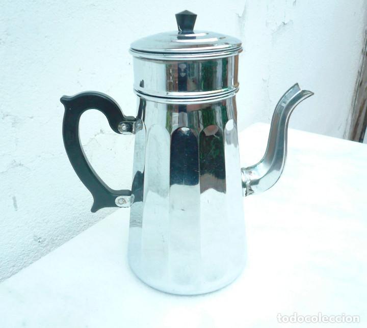 Vintage: CAFETERA COBRE CROMADO. MARCA MENESA. FRANCIA - Foto 12 - 200306656