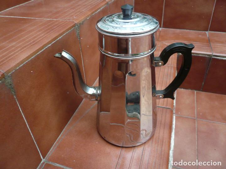 Vintage: CAFETERA COBRE CROMADO. MARCA MENESA. FRANCIA - Foto 14 - 200306656