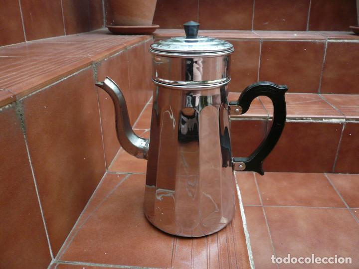 Vintage: CAFETERA COBRE CROMADO. MARCA MENESA. FRANCIA - Foto 15 - 200306656