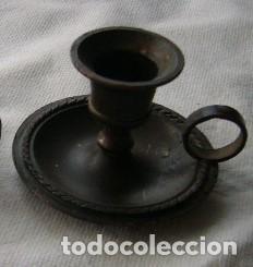 PALMATORIA METAL OSCURO (Vintage - Decoración - Varios)