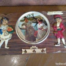 Vintage: LLAVERO DE TABLA VINTAGE PARA COLGAR LAS LLAVES. RECUERDO DE VALENCIA. Lote 200562527