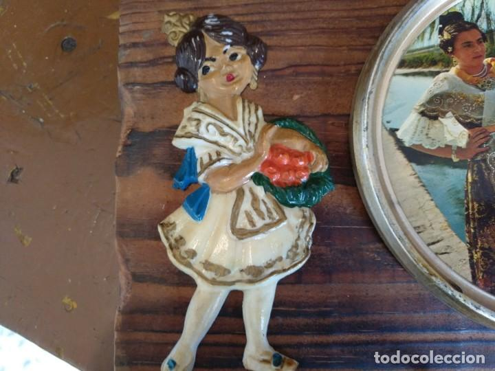 Vintage: Llavero de tabla Vintage para colgar las llaves. Recuerdo de Valencia - Foto 3 - 200562527