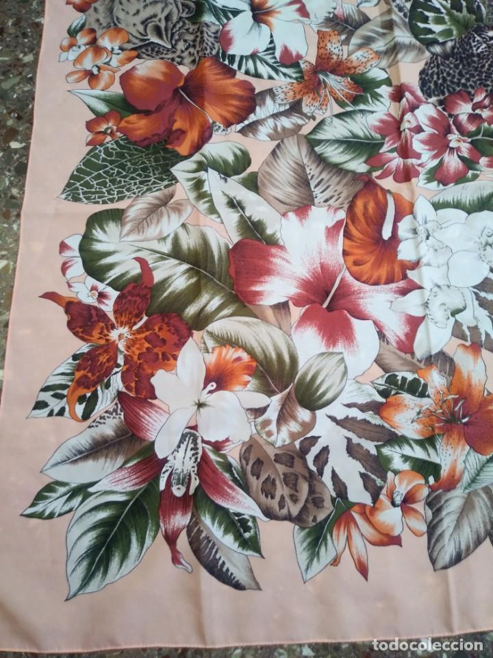 Vintage: PAÑUELO CASTELLANI FLORES TIGRES - Foto 2 - 201648175