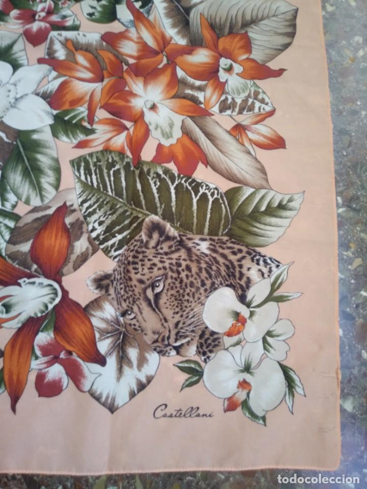 Vintage: PAÑUELO CASTELLANI FLORES TIGRES - Foto 3 - 201648175