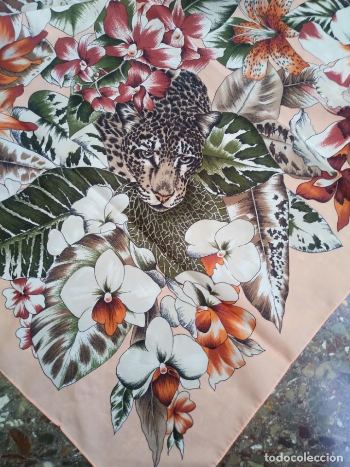 Vintage: PAÑUELO CASTELLANI FLORES TIGRES - Foto 4 - 201648175