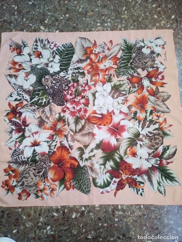 Vintage: PAÑUELO CASTELLANI FLORES TIGRES - Foto 5 - 201648175