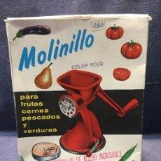 Vintage: MOLINILLO COCINA BRIGOMAR VERDURAS PESCADO CARNE EN SU CAJA AÑOS 60 18X14X10CMS. Lote 201751855
