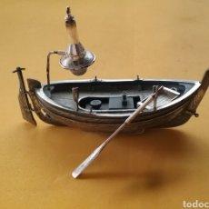 Vintage: FIGURA DE BARCA EN PLATA.. Lote 154303344