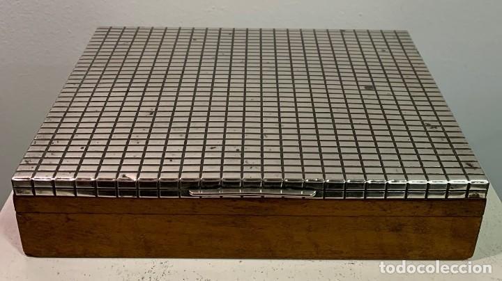 Vintage: Caja de madera con tapa de plata - Foto 2 - 202498173
