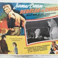 Vintage: JAMES DEAN - REBELDE SIN CAUSA- LOBBY CARD ORIGINAL MEXICO 1950S // ROCKABILLY VINTAGE POSTER. Lote 202710478