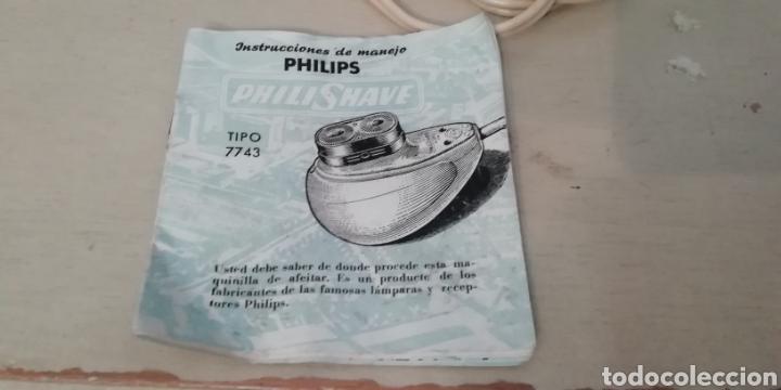 Vintage: Antigua máquina de afeitar Philishave 7743. Con manual incluido. - Foto 7 - 202795132