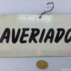 Vintage: CARTEL AVERIADO. Lote 203014560