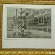 Vintage: GLADIATOR LES MERVEILLES DE L´ART MODERNE 1886 CUADRO VINTAGE. Lote 203560737