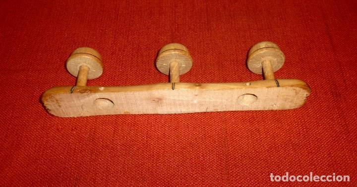 Vintage: Percha De Madera De 3 Colgadores. - Foto 5 - 203843741