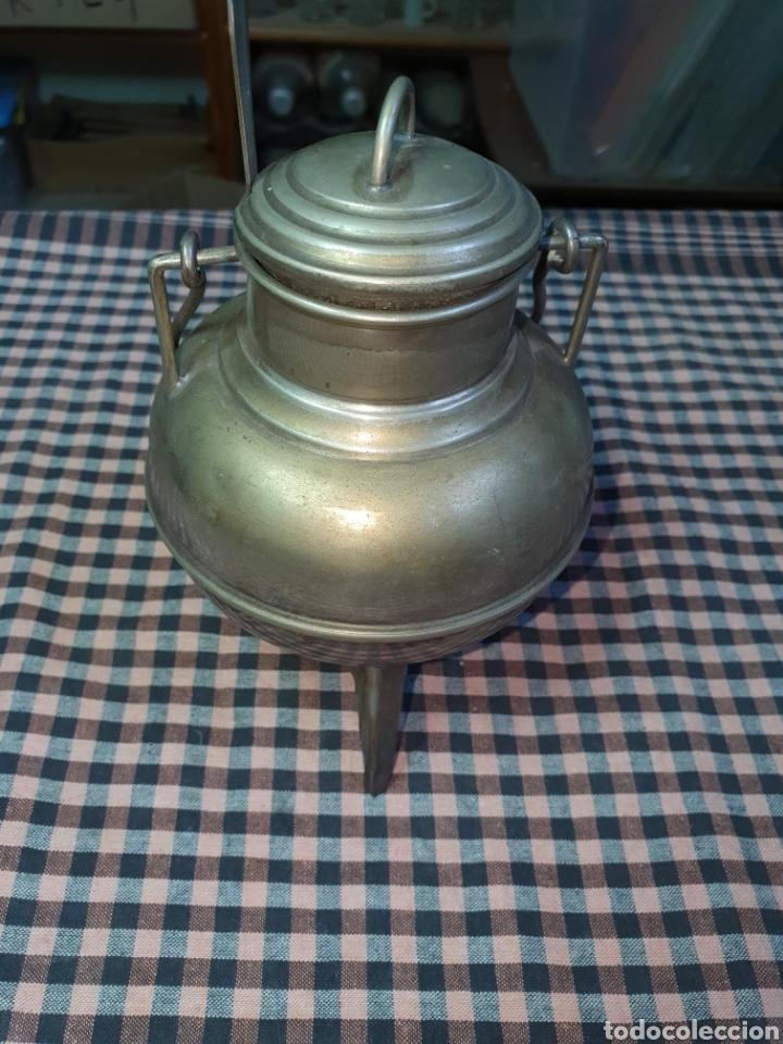 Vintage: Pote gallego plateado, azucarero. 15 cm. - Foto 2 - 204545947