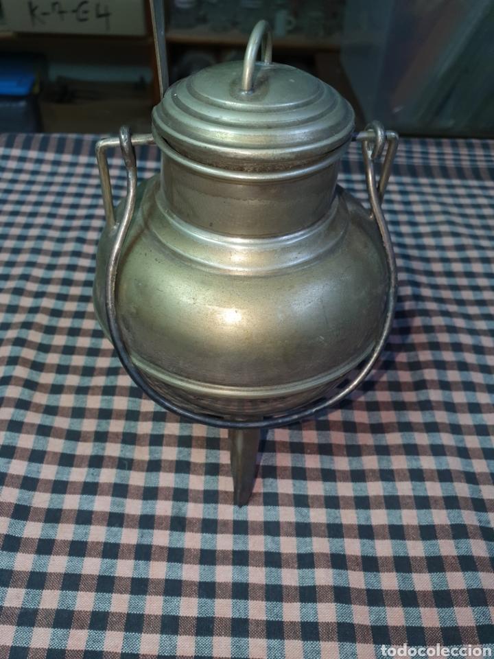 Vintage: Pote gallego plateado, azucarero. 15 cm. - Foto 3 - 204545947