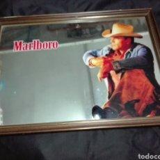 Vintage: -ESPEJO CON PUBLICIDAD DE MALBORO - CON SU LEGENDARIO COWBOY -45X33 CM. Lote 204743843
