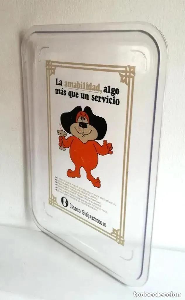Vintage: Antigua Rara Bandeja publicidad clientes Banco Guipuzcoano transparente metacrilato plástico - Foto 2 - 205115553