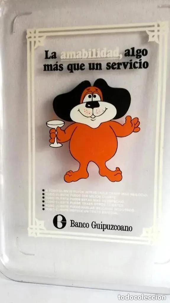 Vintage: Antigua Rara Bandeja publicidad clientes Banco Guipuzcoano transparente metacrilato plástico - Foto 3 - 205115553