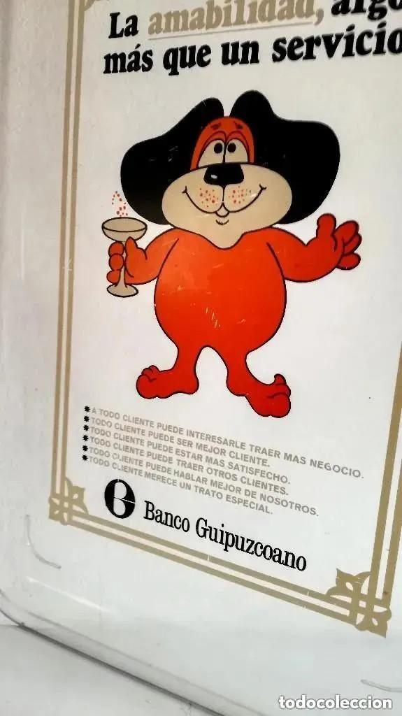 Vintage: Antigua Rara Bandeja publicidad clientes Banco Guipuzcoano transparente metacrilato plástico - Foto 6 - 205115553