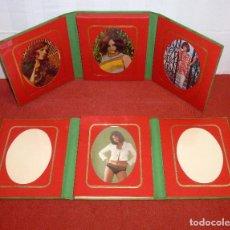 Vintage: LOTE DE 2 ALBUM DE FOTOS TRIPTICO - VINTAGE.SIN ESTRENAR.. Lote 205336130
