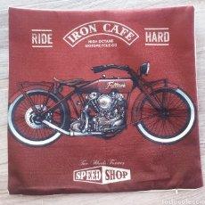 Vintage: FUNDA COJÍN MOTO VINTAGE. Lote 205520995