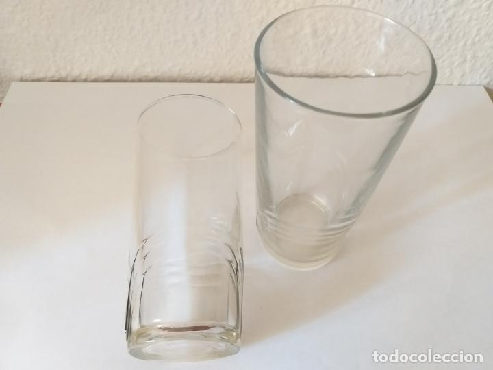 Vintage: Dos vasos altos de cristal. Adornos a relieve - Foto 5 - 205681590