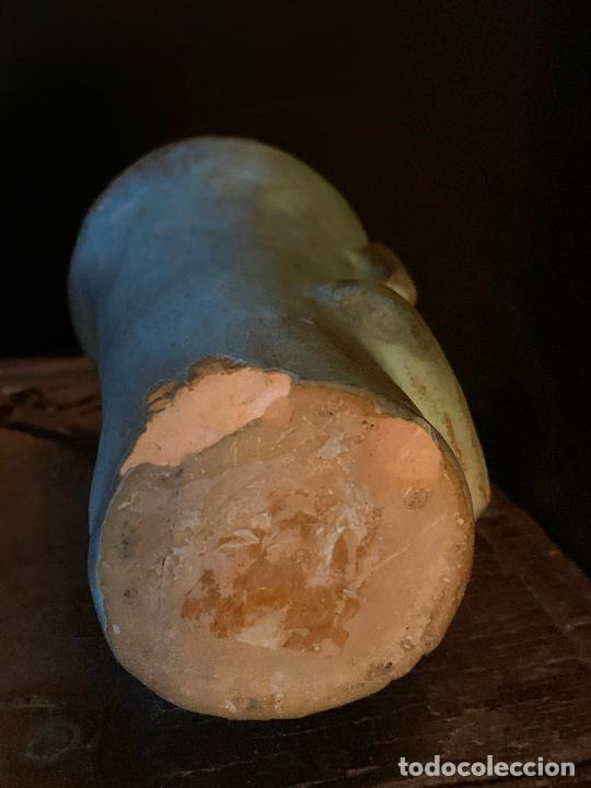 Vintage: Espectacular vaso TIKI - VINTAGE en terracota , mide unos 11cms alto x 7cms diametro - Foto 8 - 206375951