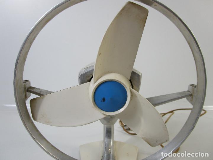 Vintage: Antiguo Ventilador Marca Foix - Blanco y Azul - Funciona - Retro, Vintage - Años 60 - Foto 3 - 206844298