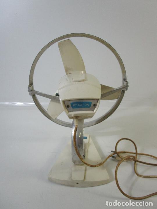 Vintage: Antiguo Ventilador Marca Foix - Blanco y Azul - Funciona - Retro, Vintage - Años 60 - Foto 6 - 206844298