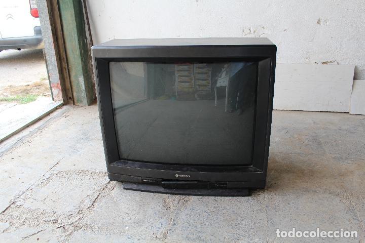 Vintage: televisor antigo hitachi c33-p900 de madera - Foto 3 - 206954078