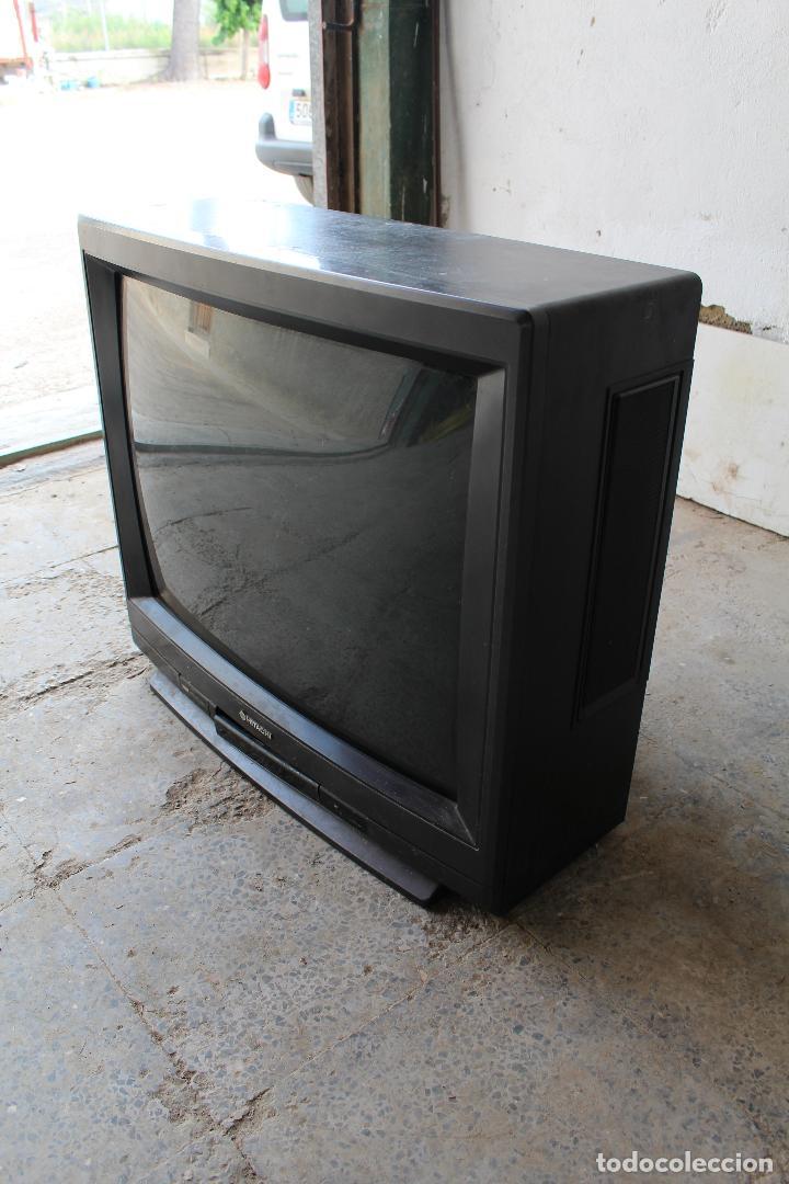 Vintage: televisor antigo hitachi c33-p900 de madera - Foto 4 - 206954078