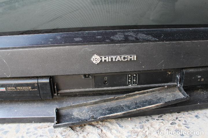 Vintage: televisor antigo hitachi c33-p900 de madera - Foto 5 - 206954078