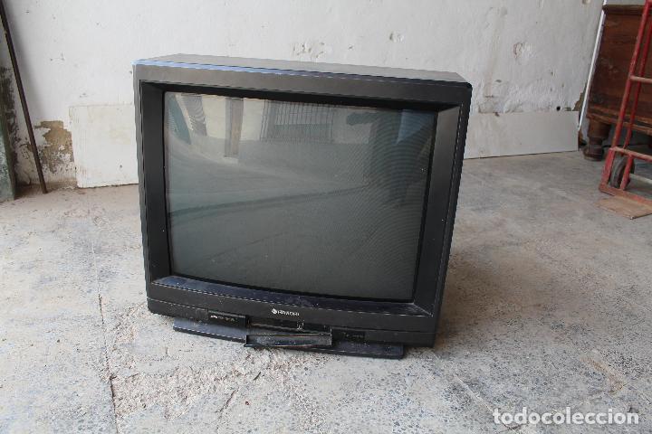 Vintage: televisor antigo hitachi c33-p900 de madera - Foto 6 - 206954078