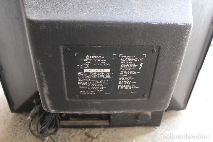Vintage: televisor antigo hitachi c33-p900 de madera - Foto 8 - 206954078