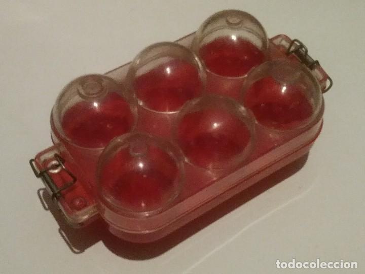 Vintage: huevera rojo y transparente - Foto 3 - 207037663