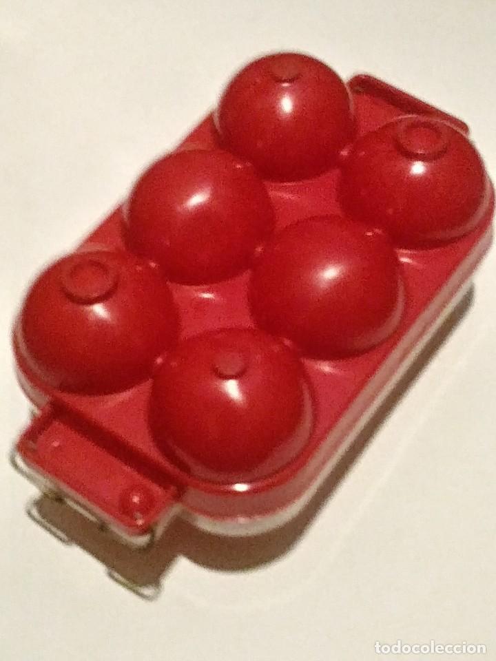 Vintage: huevera rojo y transparente - Foto 5 - 207037663