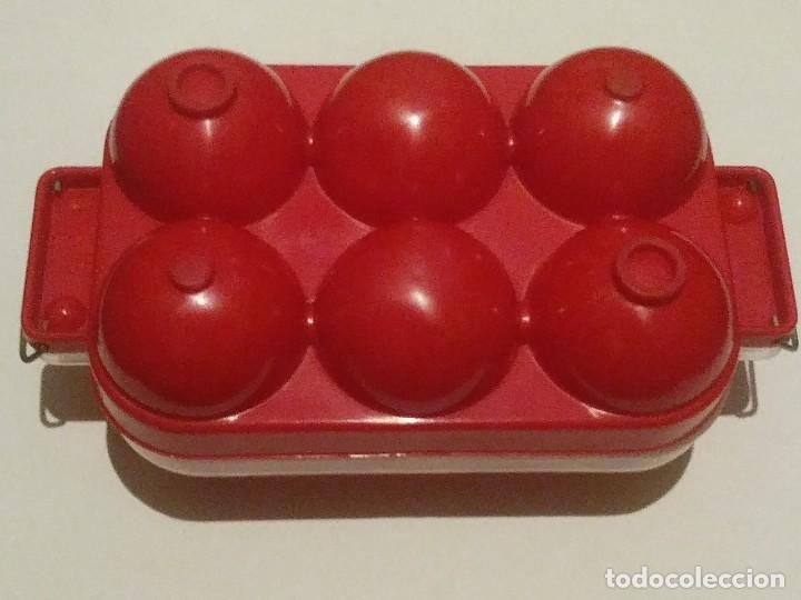 Vintage: huevera rojo y transparente - Foto 6 - 207037663